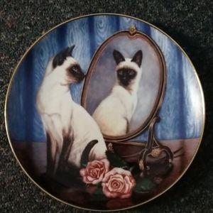 Vtg Franklin Mint Siamese Twins Collector's Plate